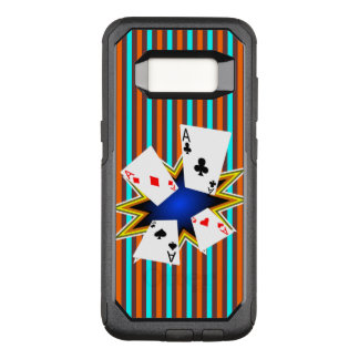 Aces on Retro background OtterBox Commuter Samsung Galaxy S8 Case