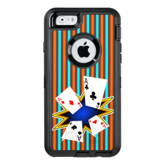 Aces on Retro background OtterBox iPhone 6/6s Case