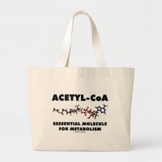 Acetyl-CoA Essential Molecule For Metabolism Large Tote Bag