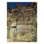 Achaemenid rock relief of King Darius I Poster