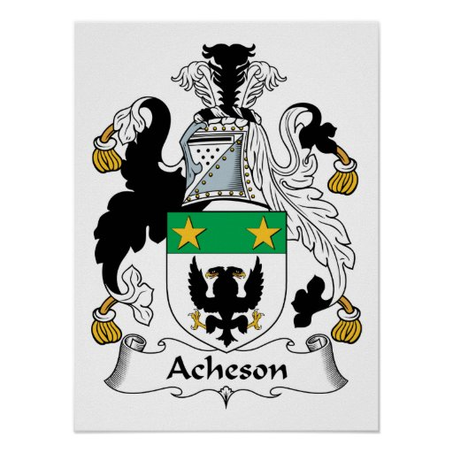Acheson Family Crest Poster