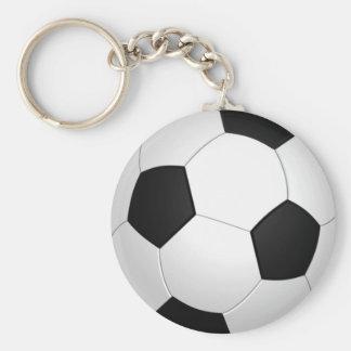 Achetez les porte - clés en vrac du football du porte-clé rond