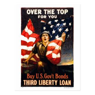 Achetez les titres d'emprunt de guerre des États-U Cartes Postales