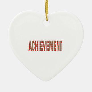 ACHIEVEMENT Success Motivation Effort Inspiration Ceramic Ornament