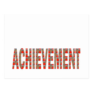 ACHIEVEMENT Success Motivation Effort Inspiration Postcard