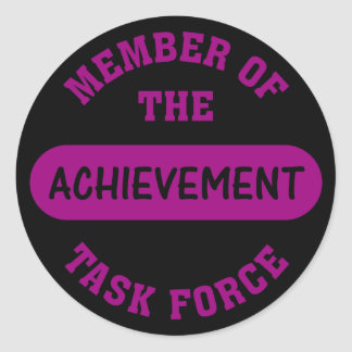 Achievement Task Force Member Classic Round Sticker