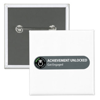Achievement Unlocked - Got Engaged 2 Inch Square Button
