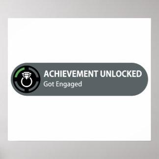 Achievement Unlocked - Got Engaged Poster