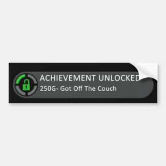 Achievement Unlocked Got Off The Couch Bumper Sticker