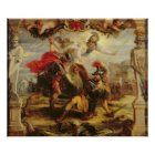 Achilles Defeating Hector, 1630-32 Poster