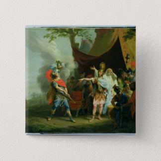 Achilles has a dispute with Agamemnon, 1776 2 Inch Square Button
