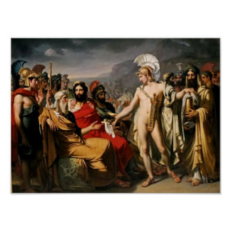 Achilles Pays Nestor the Price of Wisdom Poster