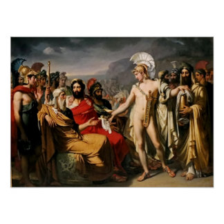 Achilles Pays to Nestor the Price of Wisdom Poster
