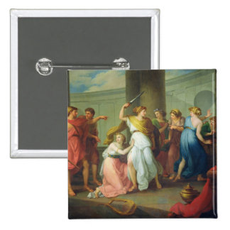 Achilles recognised, 1799 2 inch square button