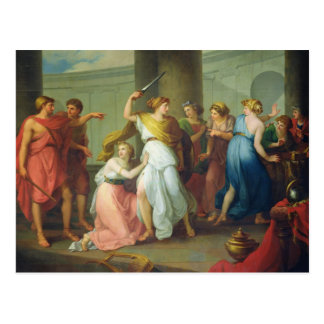 Achilles recognised, 1799 postcard
