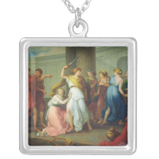 Achilles recognised, 1799 silver plated necklace