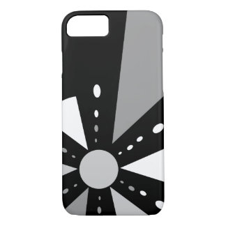 Achromatic, rays and triangles iPhone 7 case