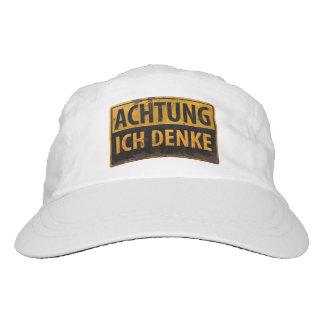 ACHTUNG, Ich Denke - German Warning Sign, Danger Hat
