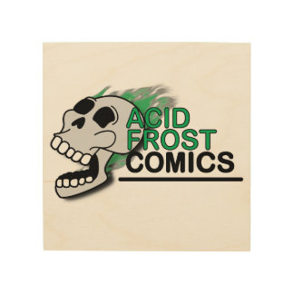 "Acid Frost Comics 8""x8"" Wood Wall Art"