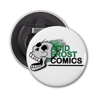 Acid Frost Comics Skull Button Bottle Opener
