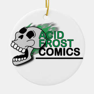 Acid Frost Comics Skull Circle/Round Ornament