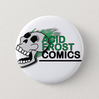 Acid Frost Comics Skull Round Button