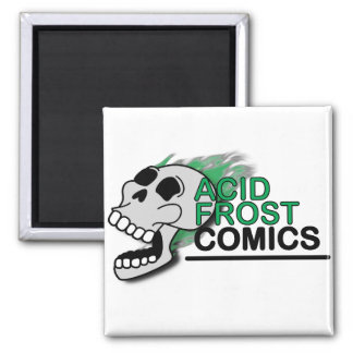 Acid Frost Comics Skull Square Magnet