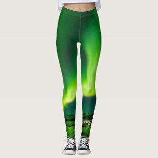 Acid Green Aurora Borealis Leggings