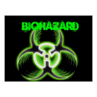Acid Green Biohazard 08 Poster