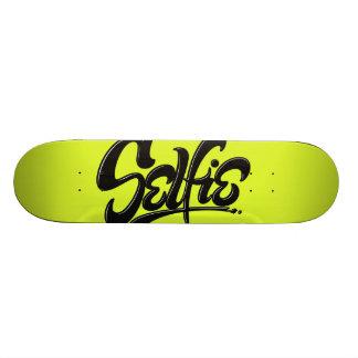 Acid Green Graffiti Selfie Street Art Lettering Skate Board Decks