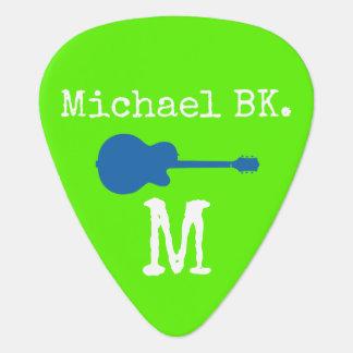 acid green guitar pick