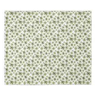 Acid Green Lucky Shamrock Clover Duvet Cover