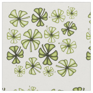 Acid Green Lucky Shamrock Clover Fabric