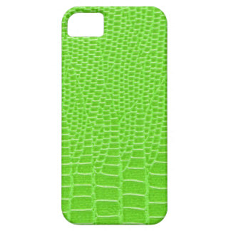 Acid green snakeskin case for the iPhone 5