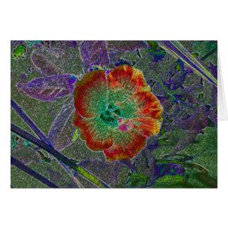Acid Hibiscus Card