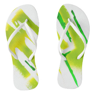 Acid Spring Colors Flip Flops
