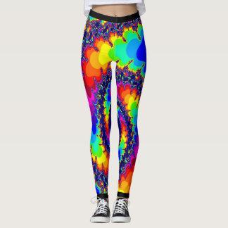 Acid Trip Rainbow Spiral Leggings
