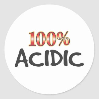 Acidic 100 Percent Round Stickers