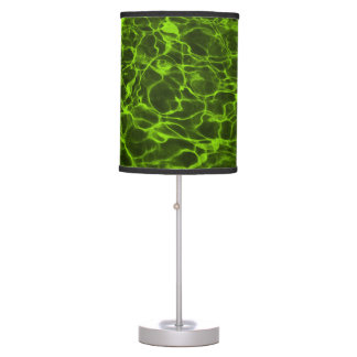 Acidic Lime Green Flaming Water Table Lamp