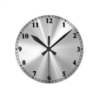Acier inoxydable horloge ronde