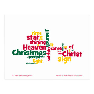 ACIM Christmas Star Postcard