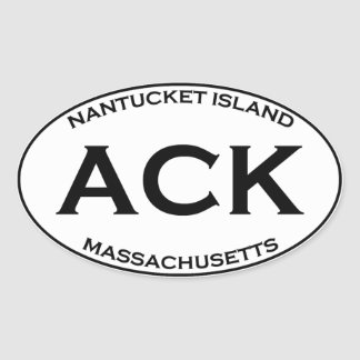 ACK - Nantucket Island Massachusetts Oval Sticker
