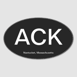 ACK Nantucket Oval Bumper Sticker
