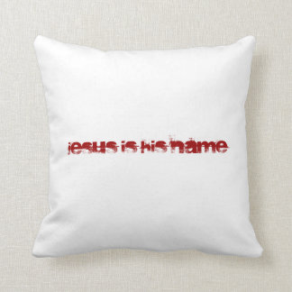Acknowledge his name pillow