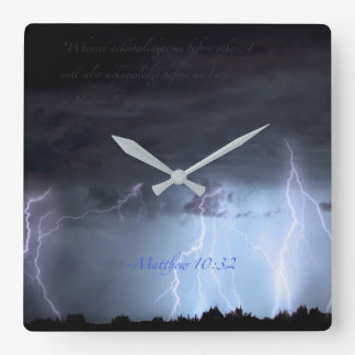 Acknowledge me. square wall clock