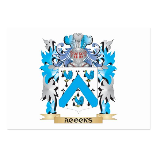 Acocks Coat Of Arms Business Card Templates