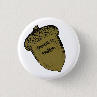 Acorn 1 Inch Round Button