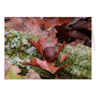 Acorn and Oak Leaf Greeting Card