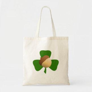 Acorn and Shamrock Tote Bag