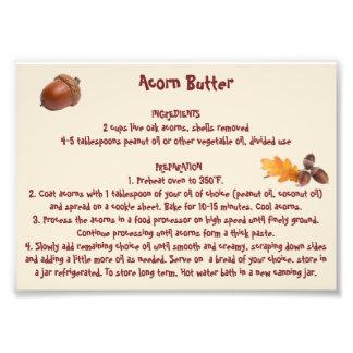 Acorn Butter Print